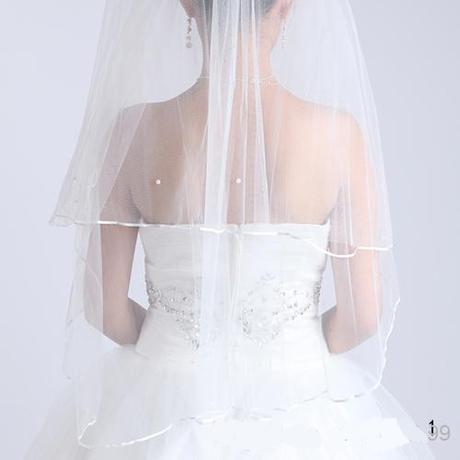 Svatební závoj bílý 02-skladem,