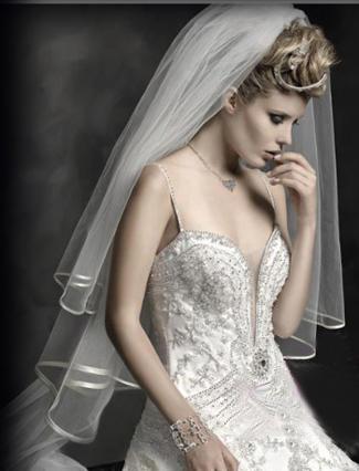Svatební závoj bílý 08,