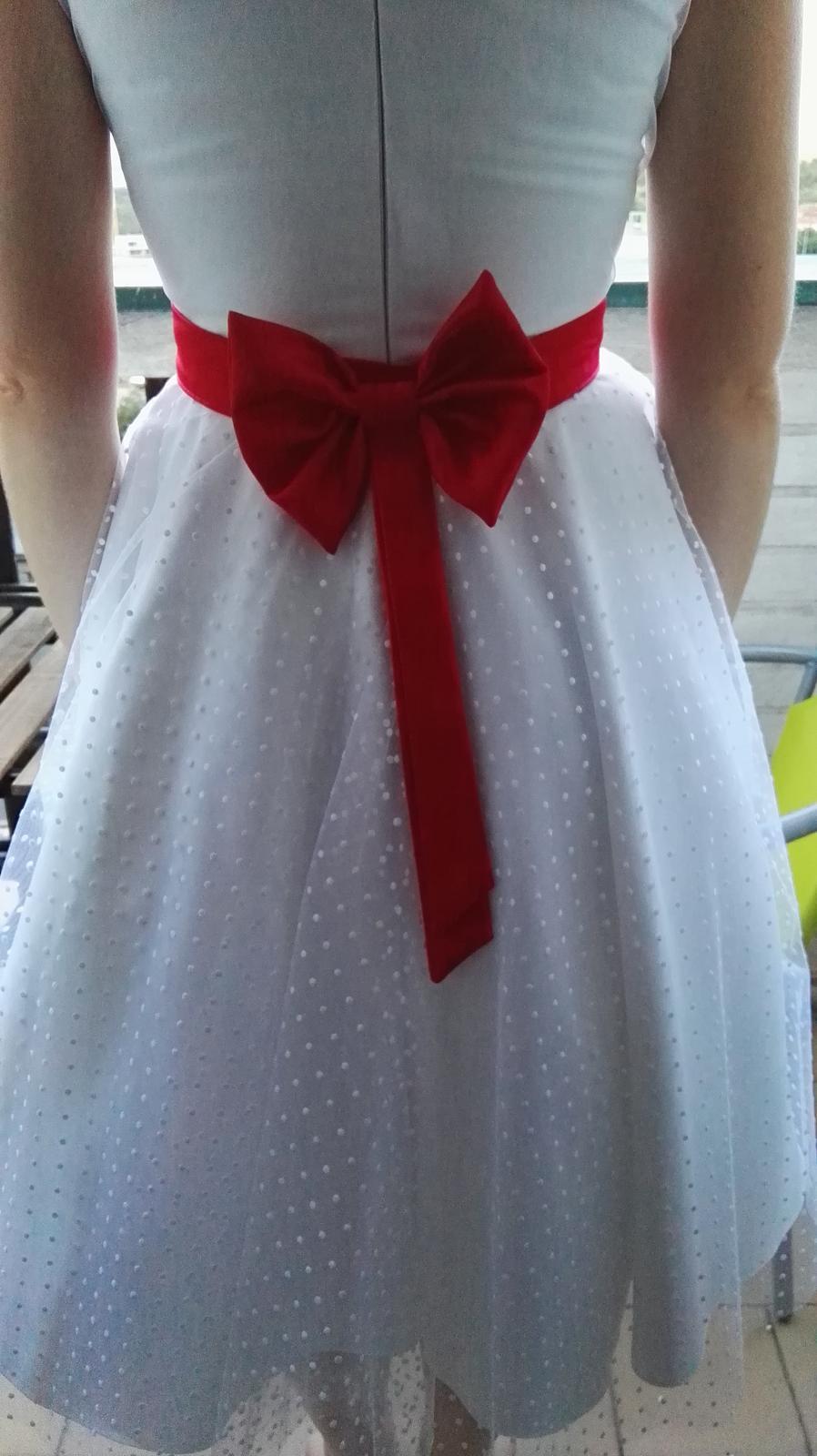 Retro šaty s červenou mašlí 9cd89b049b