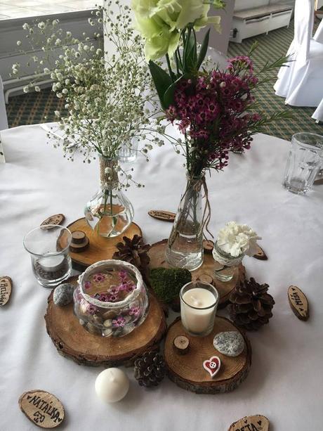 Dekorace na svatební stoly,