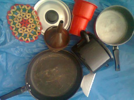 kuchynské potreby pre veľmi jednoduchú maminku,
