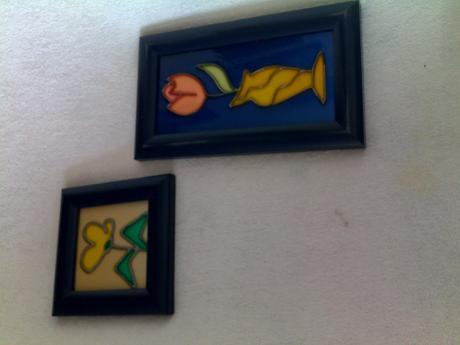 obrázky na skle ,maľované - ručná práca,cena spolu,
