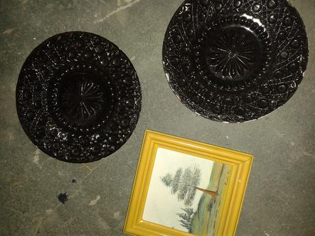 ozdobné taniere a obrázok- cena spolu,