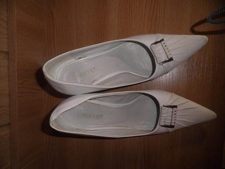 Biele elegantné topánky, 38