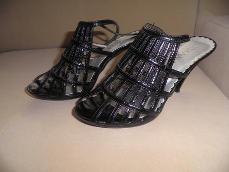 Čierne ramienkové sandále, 38