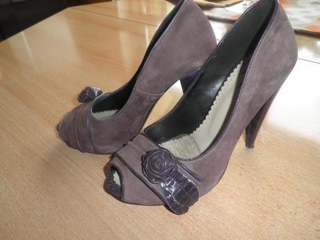 Elegantné fialové topánky, 38