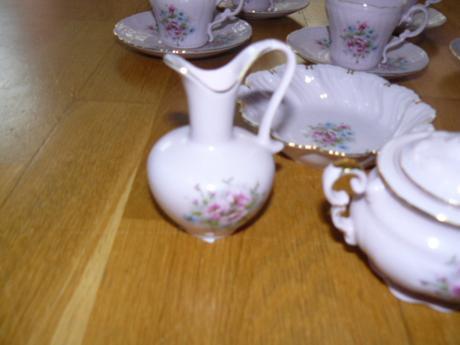 ružový porcelán leander,