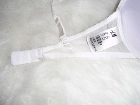 Biela čipkovaná podprsenku značky H&M, 75C