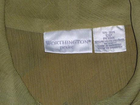 Bledozelená blúzka s mašľou značky Worthington , L