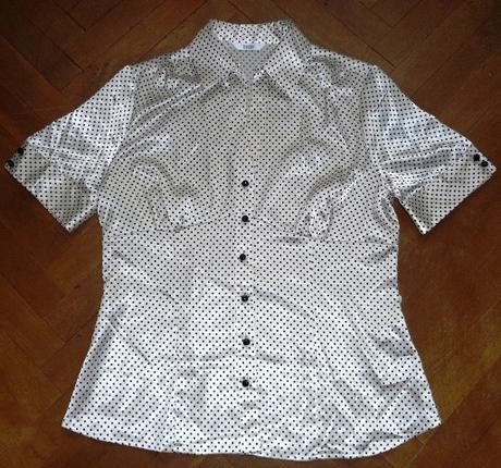 Bodkovaná blúzka/košeľa značky Marks & Spencer, L