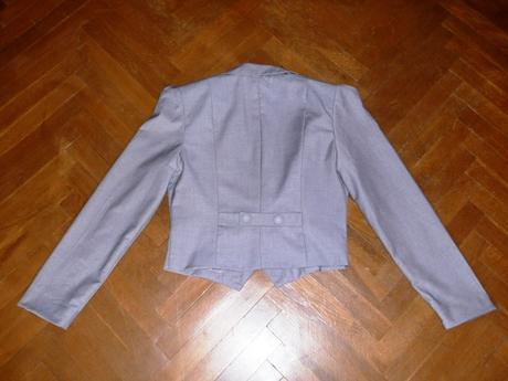 Šedé sako do pása veľkosť M, M