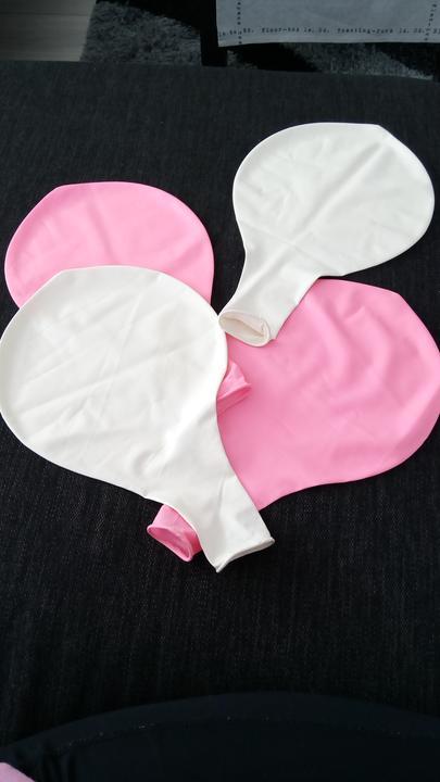 XXL balony na fotenie (33 cm) - ruzove a biele,