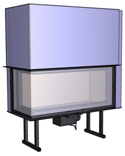 Rohový krb Deltako L100,
