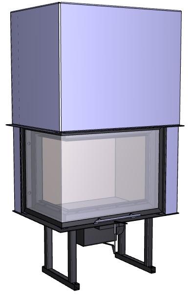 Rohový krb Deltako L60,
