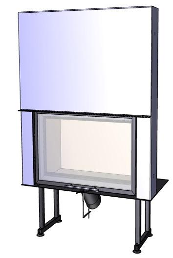 Rovný krb Deltako I60,