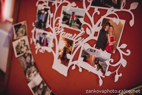 Bílý svatební strom na fotografie,