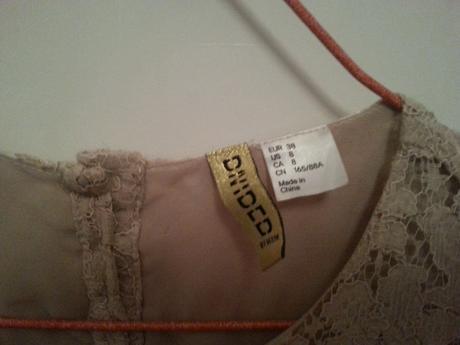 Krajkované šaty z H&M, 38