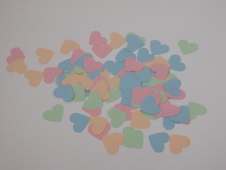 Konfetky srdíčka - mint,