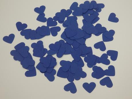 Konfetky srdíčka - navy blue ,