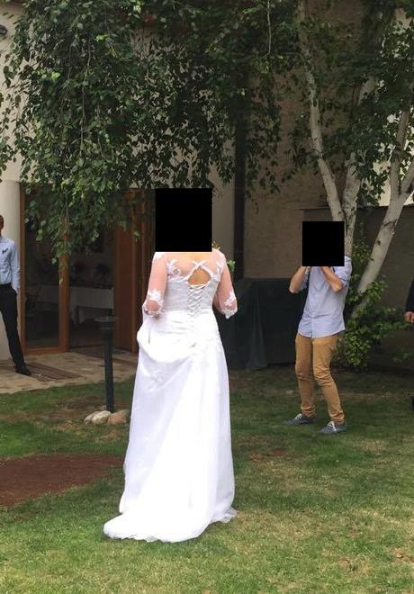 Svatební šaty s rukávy, Madora, vel. 42, 42