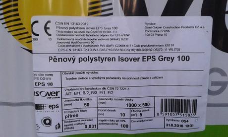 PĚNOVÝ POLYSTYREN ISOVER EPS GREY 100,