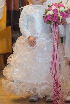 Princeznovské šaty pro malou družičku vel. 2-4roky, 22