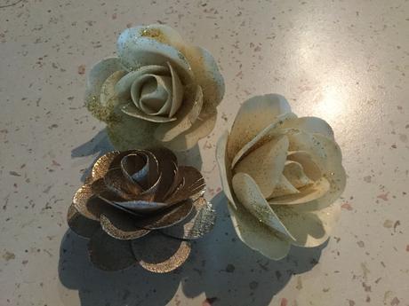 Zlaté růže - 3 ks,