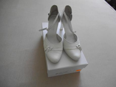 Bílé kožené svatební boty, 37