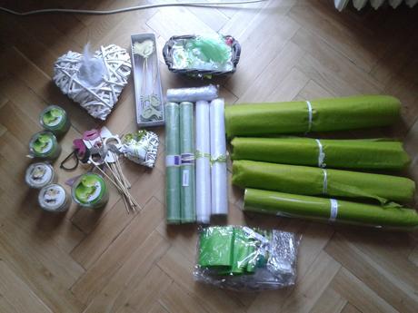 Svatební dekorační komplet do zelena,