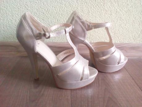 Metalické sandále, 38