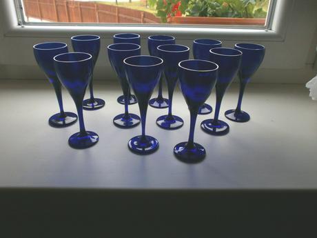 sada 12 modrých pohárikov rona lednické rovne,