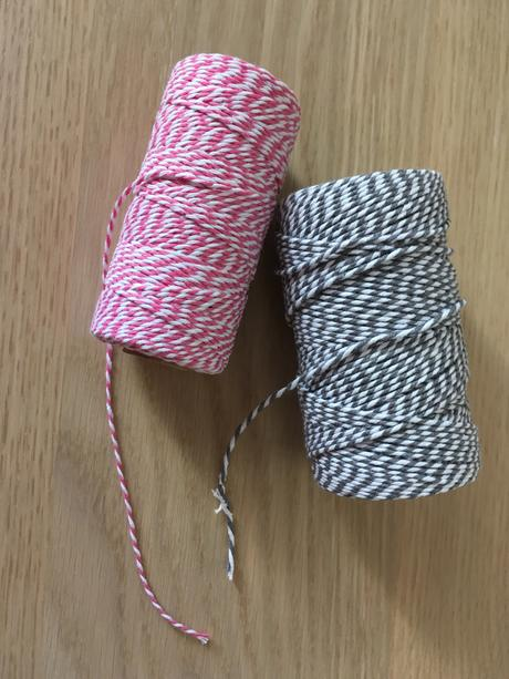Bakers Twine růžová a šedá,