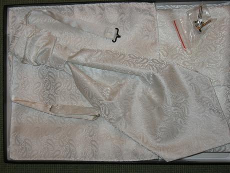 Svadobná vesta+fr. kravata+vreckovka+gombíky veľ.M, 50