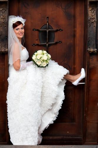 svadobné šaty - komplet, 38