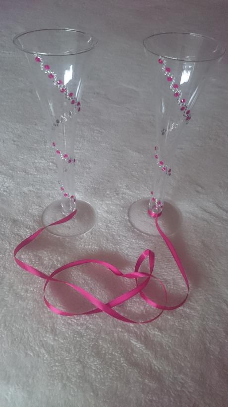 Svadobné poháre (cyklamenové),