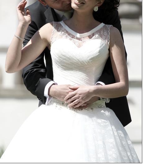 Nádherné svadobné šaty - ivory, 34