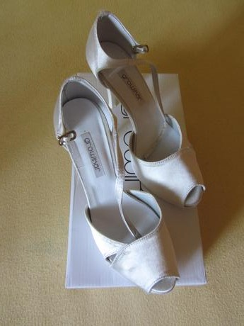Svadobné sandále ivory, 37