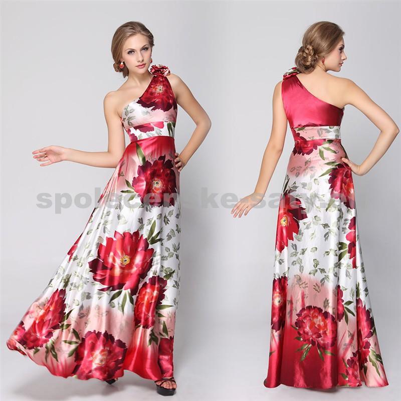 697f1183d0ec Saténové šaty s jedným ramienkom