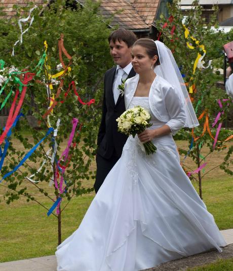Svadobné šaty  36-38 - 36, 36