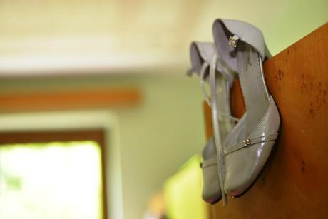 svadobné topánky striebornej farby, 36