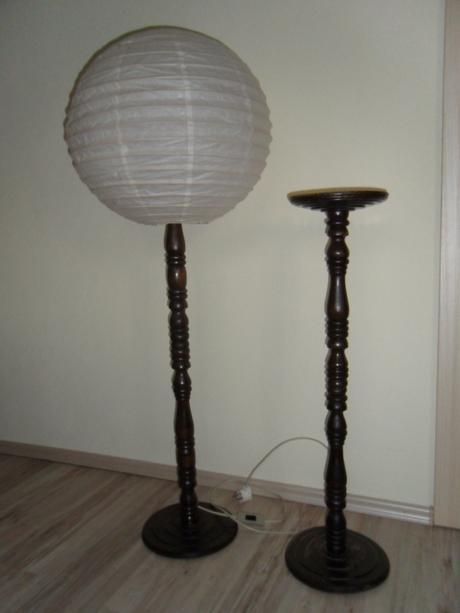 lampa a stojan na kvety,