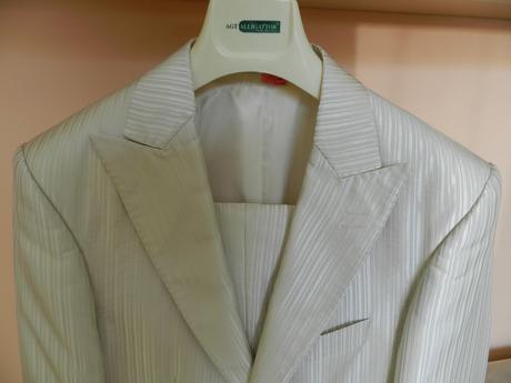 pánsky svadobný oblek, 48