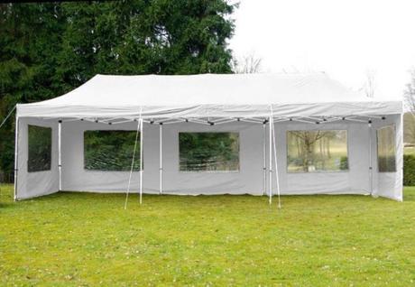 Bílý párty stan na svatbu 3x9 m, rychlorozkládací,