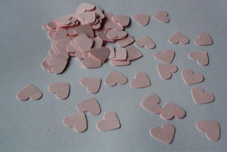 Konfety srdíčka růžová,