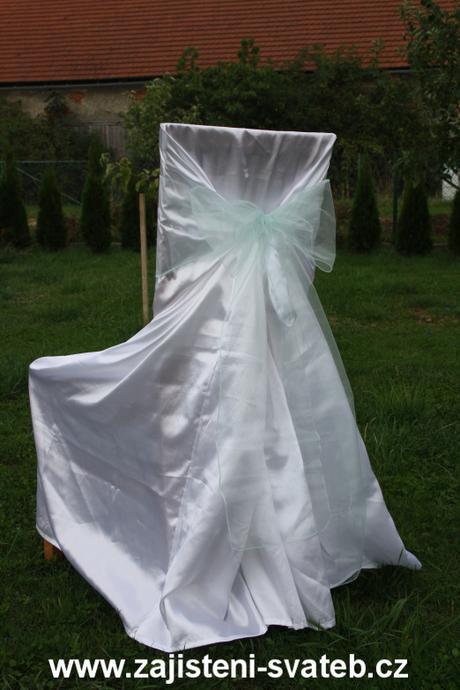 Mentolová mašle na svatební potahy,