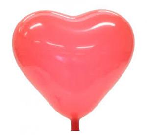 Nafukovací červené srdce, svatební srdce červené,