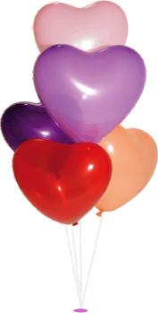 Svatební balonek srdce bílé,
