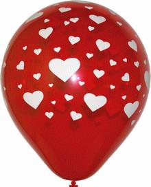 Svatební balonek srdíčka,