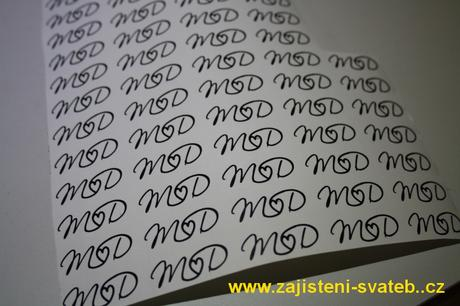 Svatební jmenovky, svatební monogramy,