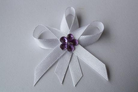 Svatební vývazek bílý,